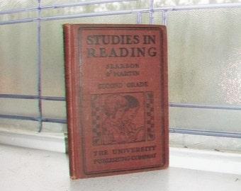 Studies in Reading Book Second Grade Basic Reader Vintage 1923