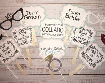 Wedding/ Groom / Bride photobooth props