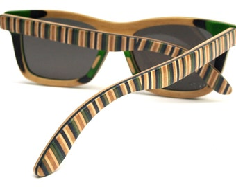 Recycled Skateboard Sunglasses  - made in canada