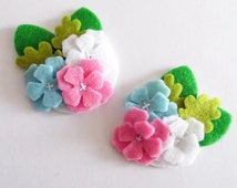 Felt applique, Felt Flower applique, Felt Flower Embellishment, Craft Supplies
