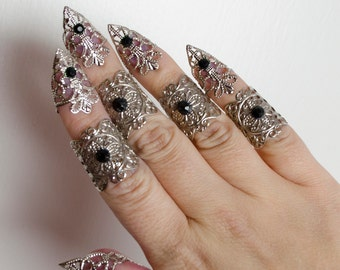 Goth claw set - set of 5
