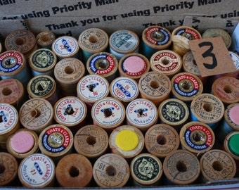 Vintage Wood 50 Spools