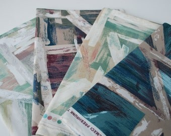 4 pieces Vintage Fabric KENMILL abstract  patterned