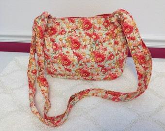 Crossbody Fabric Bag, Crossbody Purse, Hobo Bag with pockets