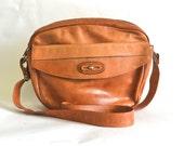 Vintage Tan Leather Camera / Travel Bag