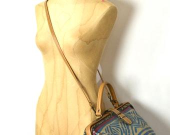 Vintage 90s Big Capezio Slouchy Dancer Everyday Printed Cotton Bag