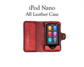 iPod Nano (7th Generation) All Leather Case - No Plastic - Free Inscription