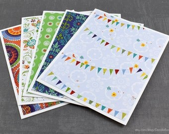 Assorted Cards, Set of Cards, Blank Greeting Cards, Stationery Cards, Blank Cards, Handmade Cards, Greeting Card Set, Birthday Cards