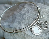 Friendship Bracelet - Best Friend Bracelet - Partners in Crime bracelet - Sisters Bracelet -Handcuff Charm - Custom Charm Bracelet