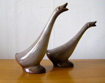 SUMMER SALE Set of Howard Pierce Pottery Geese