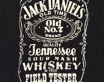 vintage JACK DANIELS Field Tester Shirt - 1980's - Size Small/ Medium