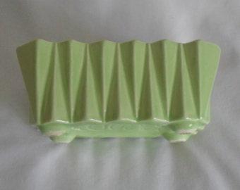 Planter Vase Art Pottery UPCO USA 276 Green Home Decor Vintage Art Deco SALE Reduced