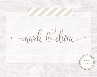 Calligraphy Handwriting Script Custom Stamp, Custom Stamp, Save the Date, Wedding invitation, Custom Wedding Stamp