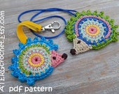 Crochet pattern HEDGEHOG ornaments by ATERGcrochet