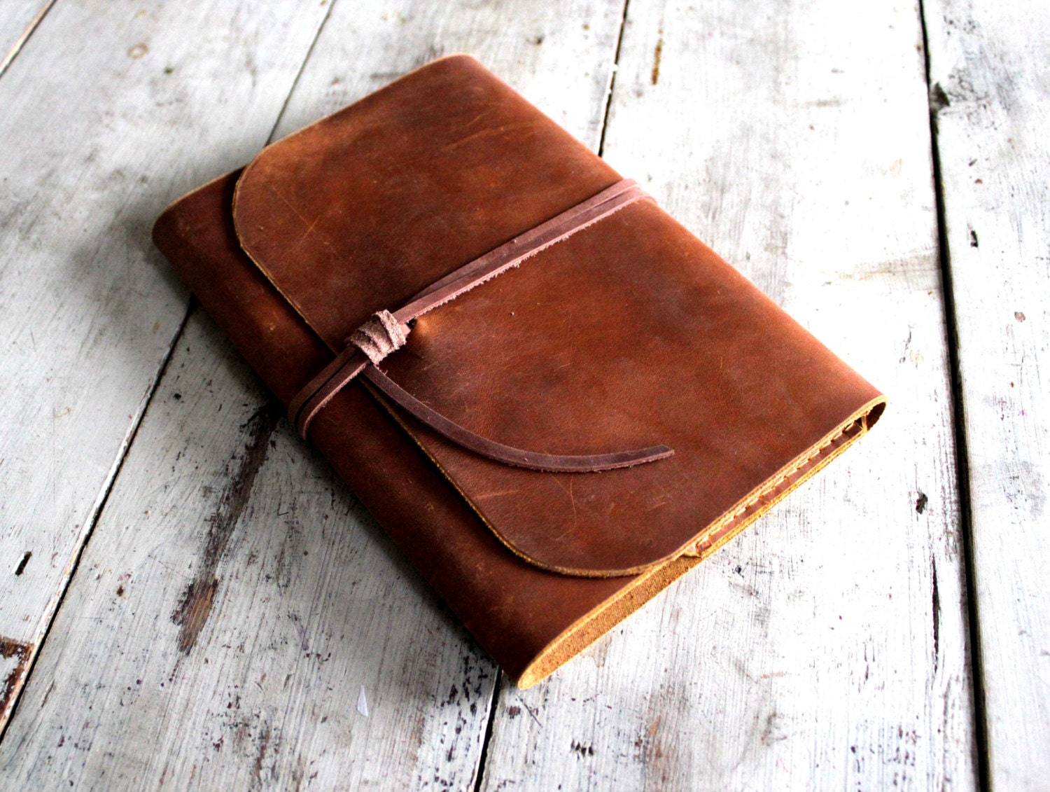 How To Make A Book Cover Leather ~ Refillable leather journal a