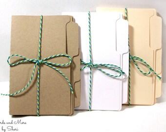Mini Tri-cut File Folder - Junk Journal Folders - Scrapbooking Folders - Planner Folders