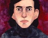 Original 'Kylo Ren from Star Wars The Force Awakens' Watercolour Portrait