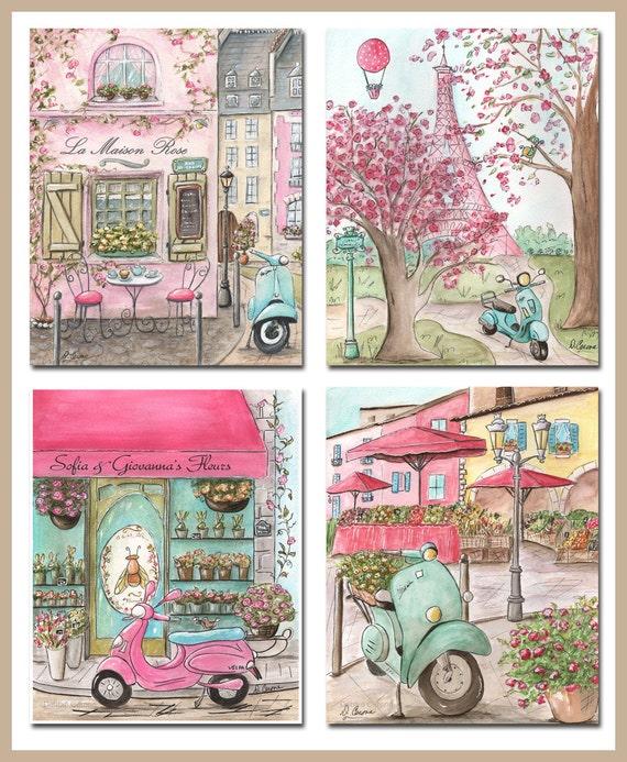 Wall Art Theme Ideas : Paris art prints decor bedroom