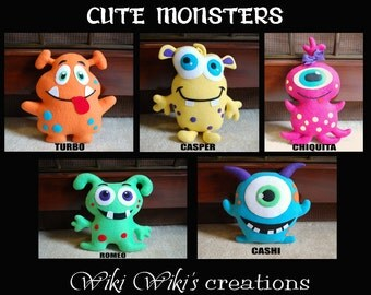 Cute Soft Plush Monster - choose your favorite