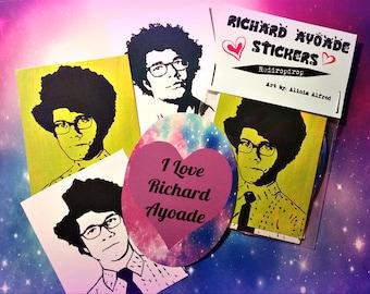 Richard Ayoade Love Stickers Galaxy Pastel Goth Nerdy Geek Soft Grunge