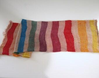 Hand Dyed Fingering/Sock Yarn, Free Hand Stripes,  Superwash Merino / Nylon, OOAK 12