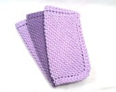 Popular purple knitted dish cloths or pot holders