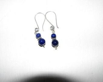 Cobalt Blue Ceramic bead Earrings
