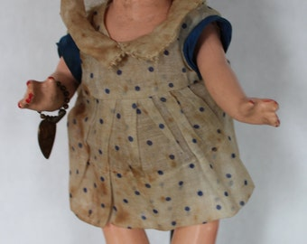 """Vintage 9"""" Effanbee Patsyette Composition Doll w Original tags"""