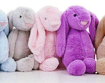 "Large 24"" Plush Personalized Bunny, Monogrammed Jellycat, Stuffed bunny"
