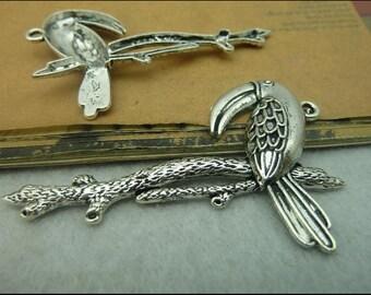 10pcs 40*60mm antique silver  big bird charms pendant  C3847