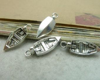 30pcs 8*22mm antique silver  sailing boat  charms pendant C7355