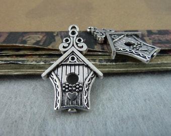 20pcs 19*31mm antique silver  house charms pendant C6484