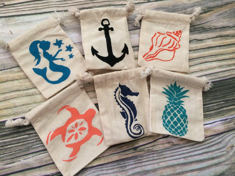 Beach Wedding Gift Bag Ideas: Party Favors Bags Favor Bags Beach Wedding Beach Theme Bags
