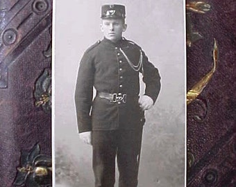 Victorian Era Photograph of Young Danish Military Soldier