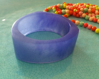 Periwinkle Blue Resin Bangle