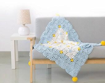 Lyonia Granny Blanket / Handmade Crocheted Afghan / Throw Blanket / Crochet Blanket - Made to Order
