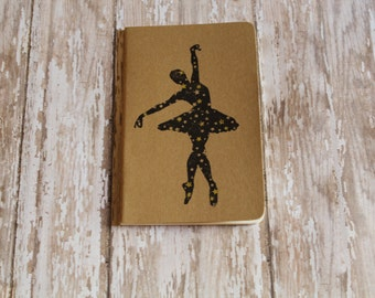 Mini Ballerina Dancer Journal Pocket Pad