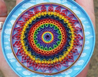 Quilling ~ Rainbow Mini Mandala