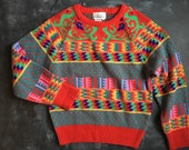 Vintage Compositions Abstract Sweater