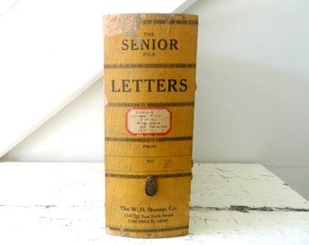 Vintage File Box Senior Letters