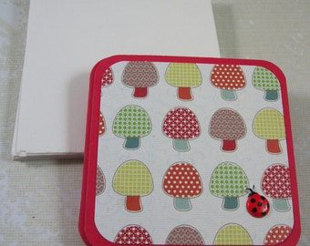 3 x 3 Mini Card Set - 12 Cards and Envelopes, Lunch box cards