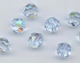 24 gorgeous Swarovski crystals - art 5000 - 6 mm - alexandrite AB