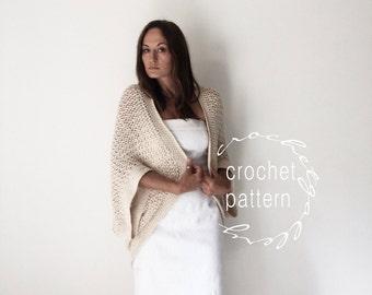 CROCHET PATTERN Kimono Shrug Pattern Cotton Sweater Pattern  Step by step Photo Tutorial
