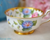 Royal Chelsea Morning Glory Replacement Teacup, English Bone China Tea Cup Set, ca. 1940