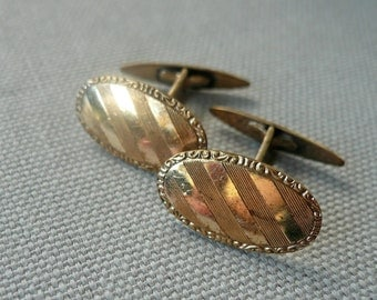 20% OFF Antique 10k Gold Engraved Cufflinks
