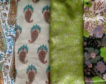 Fat Quarters, Silk Fabric, Sari Silk FQ136