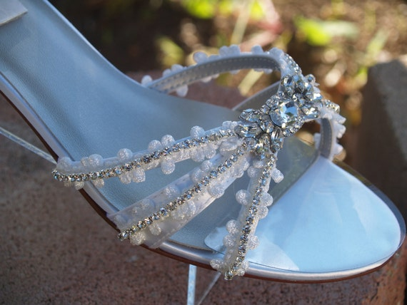 Comfortable Low Heel Wedding Shoes: Wedding Shoes Low Heels 1 1/4 Inch Flowers And By NewBrideCo