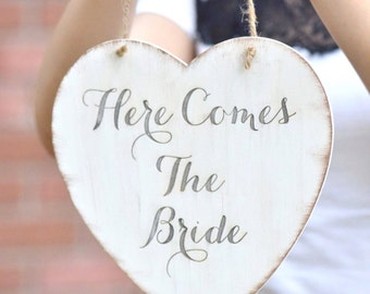 Wedding sign- Here comes the Bride-wedding decor