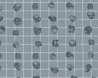 Carkai - Grid Bits in Titanium - Carolyn Friedlander for Robert Kaufman - AFR-15795-357 - 1/2 Yard