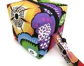 KNITTING PROJECT BAG - Sock Cube, Zippered Box Bag, Folklorica Floral, Zippered Project Bag, Knitting Bag, Crochet, Sock Bag, Hat Bag